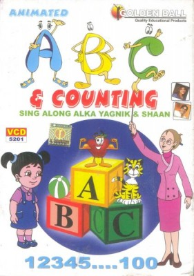 Animated ABC & Counting (VCD) This VCD contains animated ABC & Counting like Introduction To Counting, Intro to Alphabet,  Alphabet A To Z, Small Letters, Vowels And Consonants etc.