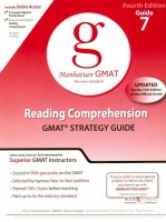 Manhattan GMAT  Reading Comprehension Strategy Guide