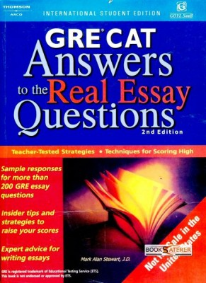 Arco's GRE - CAT Answers To The Real Essay Questions With only 75 minutes to