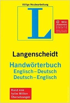 Langenscheidt Handworterbuch These dictionaries are truly 2-way, giving equal help to English-speaking learners of German as to German-speaking learners of English.