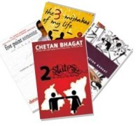 The Set of 4 Books By Chetan Bhagat The Set of 4 Books by Chetan Bhagat contains    *      2 States - The Story Of My Marriage    *      The 3 Mistakes of My Life    *      One Night @ The Call Center    *      Five Point Someone