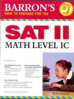 How To Prepare For The SAT II Math Level IC