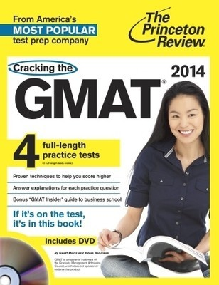 Cracking the GMAT with 4 Practice Tests & DVD, 2014 Edition Exclusive Access to More Practice and Resources Online • 4 additional full-length practice exams• Instant score reports for all multiple-choice questions• Full answer explanations & free performance analysis• Extra math and verbal drills to hone your technique• Informational updates on the Integrated Reasoning section