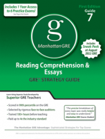 Manhattan GRE Reading Comprehension & Essays GRE Strategy Guide