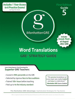 Manhattan GRE Word Translations GRE Strategy Guide Includes 6 Computer Adaptive Practice Exams