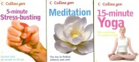 3 Pocket books set  on Yoga, Meditation and Stress